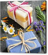 Handmade Soaps With Herbs Canvas Print