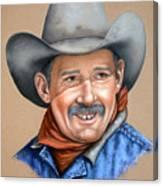 Happy Cowboy Canvas Print