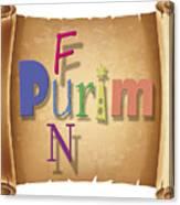 Happy Joyous Purim  Canvas Print