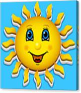 Happy Smiling Sun Canvas Print