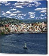 Harbor In Corricella Canvas Print