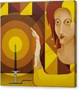 Harlequin With Candle   2004 Canvas Print