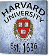 Harvard University Est. 1636 Canvas Print