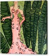 Haute Couture Flamingo Canvas Print