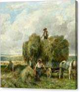 Haymaking Canvas Print
