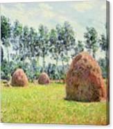 Haystacks At Giverny Canvas Print