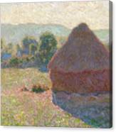 Haystacks, Midday Canvas Print