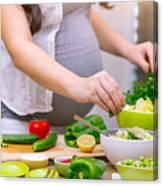 Healthy Pregnancy Concept Canvas Print