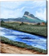 Heart Mountain And The Canal Canvas Print