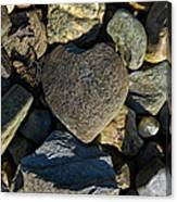 Heart Shaped Stone Loch Fyne  Canvas Print