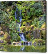 Heavenly Falls In Spring Canvas Print