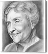 Helen Keller Canvas Print