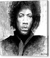 Hendrix Portrait Canvas Print