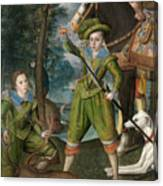 Henry Frederick Prince Of Wales With Sir John Harington In The Hunting Field Canvas Print