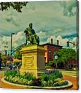 Henry Wadsworth Longfellow Monument - Portland, Maine Canvas Print