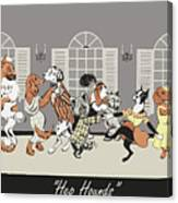 Hep hounds Canvas Print