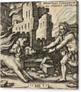 Hercules Capturing Cerberus Canvas Print