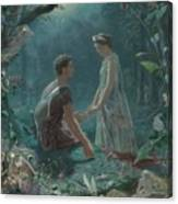 Hermia And Lysander Canvas Print