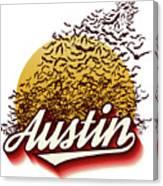 Congress Avenue Bridge Bats Take Flight In Austin Texas Canvas Print