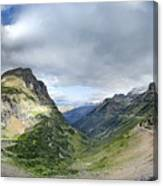 Highline Trail Overlooking Going To The Sun Road - Glacier National Park Canvas Print