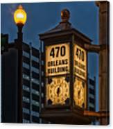 Historic Clock - Beaumont Texas Canvas Print