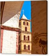 Historic Stone Bell Tower Canvas Print