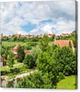 Historic Town Of Rothenburg Ob Der Tauber  Canvas Print