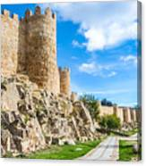 Historic Walls Of Avila Canvas Print