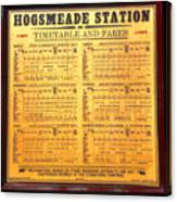 Hogsmeade Station Timetable Canvas Print