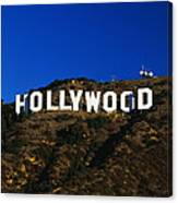 Hollywood Sign Los Angeles Ca Canvas Print