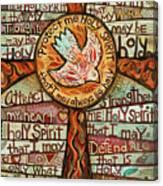Holy Spirit Prayer By St. Augustine Canvas Print