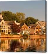 Homes On Kennebunkport Harbor Canvas Print