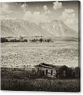 Homestead In The Grand Tetons Canvas Print