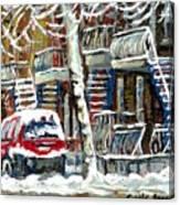 Achetez Les Meilleurs Peintures De Scenes De Montreal En Hiver Winter Scene Paintings Canvas Print