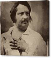 Honore De Balzac Canvas Print