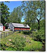 Hopewell Village And Stream Canvas Print