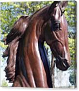 Horse Head In Bronze Canvas Print