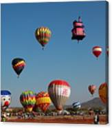 Hot Balloon Festival, Leon, Mexico Canvas Print