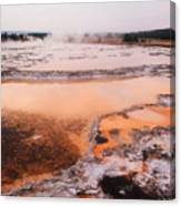 Hot Springs In Yellowstone. Canvas Print