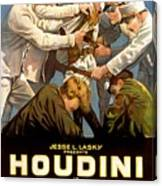Houdini In The Grim Game 1919 Canvas Print