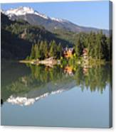 House On Green Lake Whistler B.c Canada Canvas Print