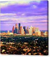 Houston 1980s Canvas Print