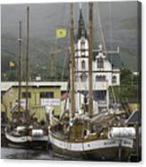 Husavik Harbor Iceland 3660 Canvas Print