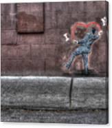 I Heart Ny Street Art 4 Canvas Print