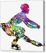 Ice Skater-colorful Canvas Print