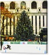 Ice Skating During The Holiday Season Canvas Print