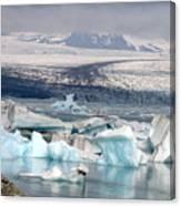 Iceland Glacier Lagoon Canvas Print