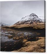 Icelandic  Mountain Landscape Canvas Print