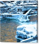 Icy Blue River Canvas Print