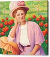 Ida In The Garden Canvas Print